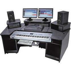 Omnirax F2 Keyboard Composing Mixing Workstation (Black Melamine)