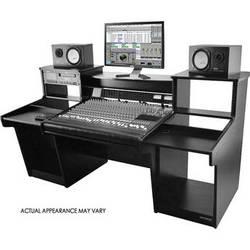 Omnirax MixStation Workstation for the Avid 24 Mixer (Black Melamine)