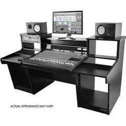 Omnirax MixStation Workstation for the Tascam DM-3200 Mixer (Black Melamine)