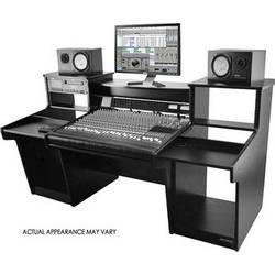 Omnirax MixStation Mixer Stand for the Tascam DM4800 Mixer (Black Melamine)