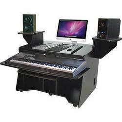 Omnirax NT Keyboard Composing/Mixing Workstation (Black Melamine)