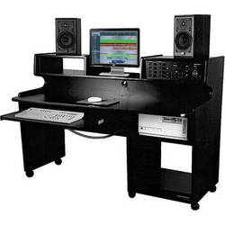 Omnirax ProStation Jr. Workstation (Black Melamine)