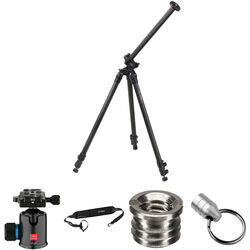 Oben CC-2381L Carbon Fiber Lateral Tripod with BC-139 Ball Head Kit