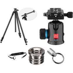Oben CC-2361L Carbon Fiber Lateral Tripod with BC-126 Ball Head Kit
