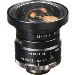"Kowa C-Mount 6mm f/1.8-16 1"" HC Series Fixed Lens"