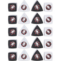 Rycote Mic Flag Set (20, Black and White)