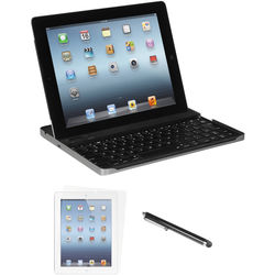 Xuma Aluminum Bluetooth Keyboard Case with Accessories Kit for iPad 2nd, 3rd, 4th Gen
