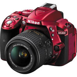 Nikon D5300 DSLR Camera with 18-55mm Lens (Red)
