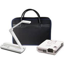 Elmo POG Wireless Bundle: MO-1w Wireless Visual Presenter with VPR-2 Wireless Receiver, BOXi MP-350 Projector, & Soft Case