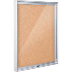 "Best Rite 94CAC-01 Economy Enclosed Bulletin Board Cabinet (48 x 36"", Natural Cork)"