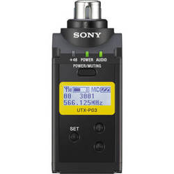 Sony UTX-P03 Integrated Digital Wireless Plug-On Transmitter (UHF Channels 30/36 and 38/41: 566 to 608 and 614 to 638 MHz)