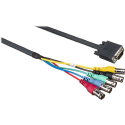 Kramer 15-Pin VGA Male to 5 BNC Female Breakout Cable (6')