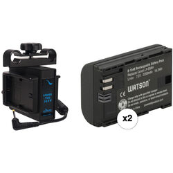 IndiPRO Tools Power Grid System with 2x LP-E6 Batteries for Blackmagic Pocket Camera Kit