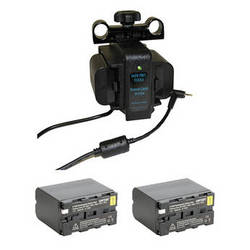 IndiPRO Tools Power Grid System with 2x NP-F975 Batteries for Blackmagic Pocket Camera Kit
