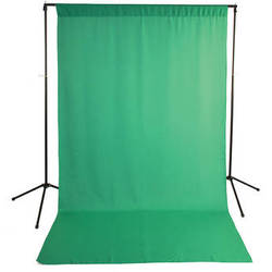 Savage Economy Background Support Stand with 5 x 9' Chroma Green Backdrop