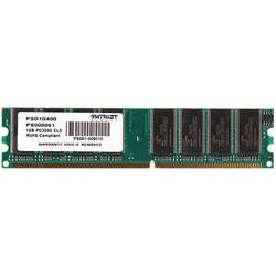 Patriot Signature Series 1GB DDR 400 MHz DIMM Memory Module with Heat Shield