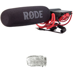 Rode VideoMic Camera Mounted Shotgun Mic & Dead Cat Wind Muff Kit