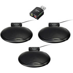 AKG CBL 410 Microphone Conference Set with USB Adapter (3, Black)