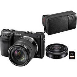 Sony Alpha NEX-7 Digital Camera Limited Edition Bundle with 18-55mm and 20mm Lenses