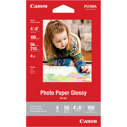 """Canon Photo Paper Glossy (4 x 6"""", 100 Sheets)"""