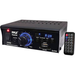 Pyle Pro PCAU15A Mini 2x15 Watt Stereo Amplifier