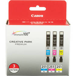 Canon CLI-251XL 3-Cartridge Color Ink Set