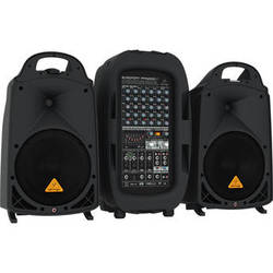 Behringer EUROPORT PPA2000BT - 2000W 8-Channel Portable PA System with Bluetooth Wireless