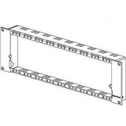 Neutrik 3RU Panel Frame for OpticalCon Connectors