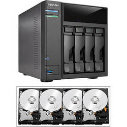 Asustor 16TB (4 x 4TB) AS-204TE Data Storage Server Kit with Drives