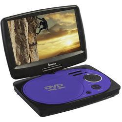 "Impecca 9"" Portable Swivel Multisystem DVD Player (Purple)"