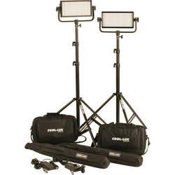 Cool-Lux CL2-1000DSV Daylight PRO Studio LED Spot 2-CL500DSV Kit with V-Mount Battery Plates
