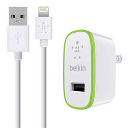 Belkin BOOSTUP Home Charger with ChargeSync Lightning Cable (12 Watt / 2.4 Amp, White)