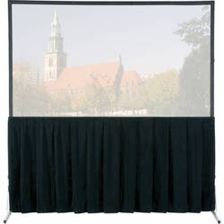 """Da-Lite Skirt Drapery for HD and Truss Deluxe Projection Screen (14'6"""" x 25', Black)"""