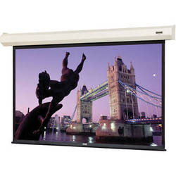 "Da-Lite 74660I 50 x 67"" Cosmopolitan Electrol Wall & Ceiling Screen (White Case)"