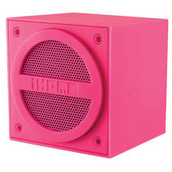 iHome Bluetooth Rechargeable Mini Speaker Cube in Rubberized Finish (Pink)