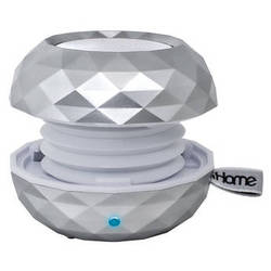 iHome iBT66 Color Changing Bluetooth Rechargeable Mini Speaker System (White)