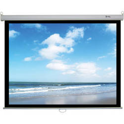 "Recordex USA ReTract Plus Premium Manual Wall/Ceiling Projector Screen (72 x 96"")"