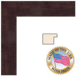 Set of 2 11x14 Espresso Color Wood Swan Picture Frame with REAL GLASS