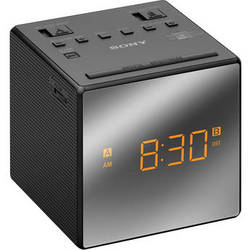 Sony Dual Alarm Clock Radio (Black)
