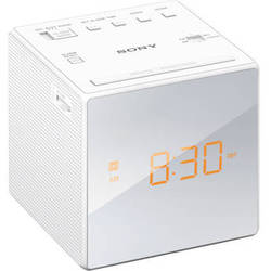 Sony Radio Alarm Clock (White)