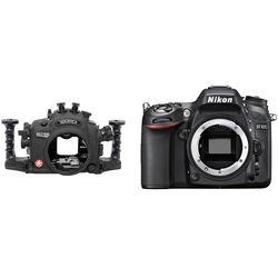 Aquatica AD7100 Underwater Housing with Dual Nikonos Strobe Connectors and Nikon D7100 DSLR Camera Body Kit