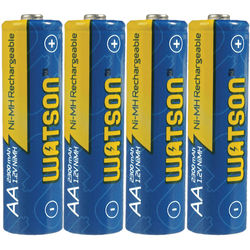 Watson AA NiMH Rechargeable Batteries (2300mAh) - 4-Pack