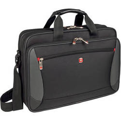 "Wenger Mainframe 16"" Double Compartment Slimcase with Tablet/eReader Pocket"