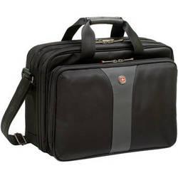 "SwissGear LEGACY 16"" Double Gusset Computer Case (Black/Gray)"