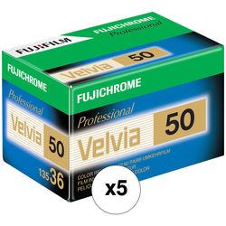 Fujifilm Fujichrome Velvia 50 Professional RVP 50 Color Transparency Film (35mm Roll Film, 36 Exposures, 5 Pack)