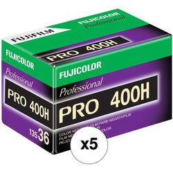 Fujifilm Fujicolor PRO 400H Professional Color Negative Film (35mm Roll Film, 36 Exposures, 5 Pack)