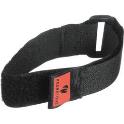 "Pearstone 1 x 12"" Touch Fastener Cinch Strap (Black, 2-Pack)"