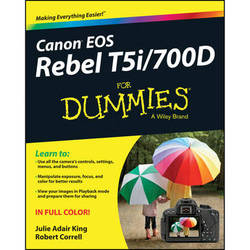 Wiley Publications Book: Canon EOS Rebel T5i/700D for Dummies