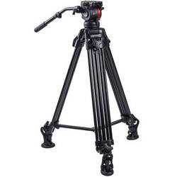 Varavon 815 Big Tripod Set with Video Head, Mid Level Spreader & Bag