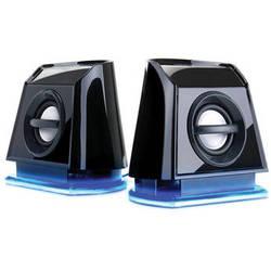 GOgroove BassPULSE 2MX USB Powered 2.0 Channel Computer Speakers (Blue/Black)